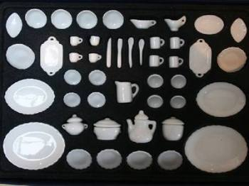 50 Piece Boxed White China