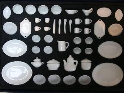 50 Piece Boxed White China