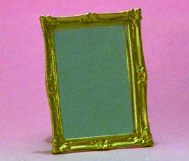 Antiqued Framed Mirror