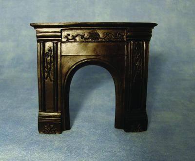 Ornate Black Fireplace