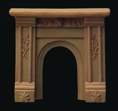 Ornate Cream Fireplace