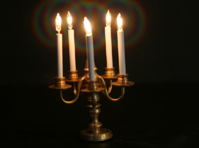 5 Arm Candelabra candle