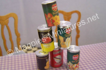 Set Of 6 Food Cans