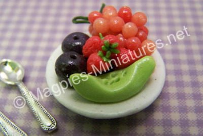 Plate of Mixed Fruit