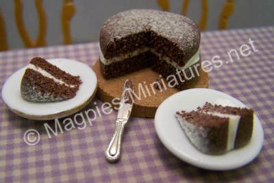 Chocolate Cream Sponge Cake