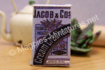 Early packet Jacobs cream crackers.