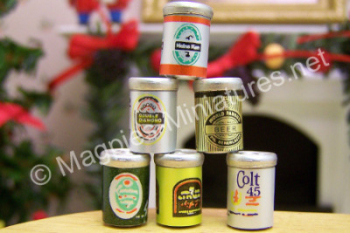 Beer Cans, set of 6
