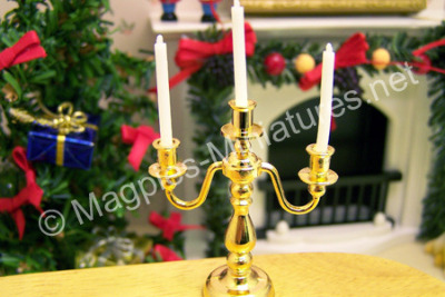 3 Arm Candelabra candle