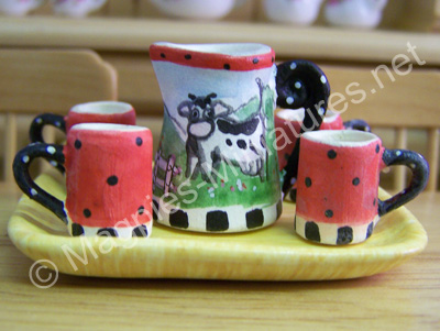 Pitcher Set  Cow