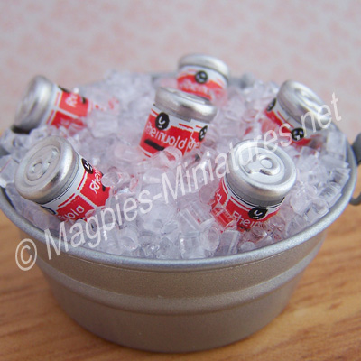 Cans in a Bucket of Ice