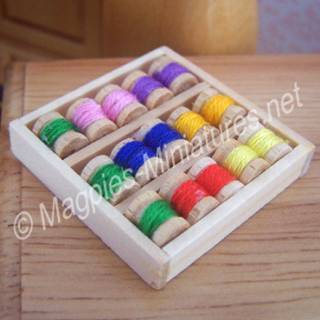 Box of Cotton Reels