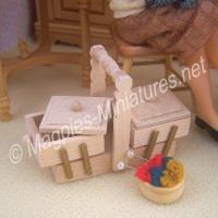 Wood Sewing Box