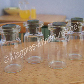 Glass Jars, Medium, Pack of 4