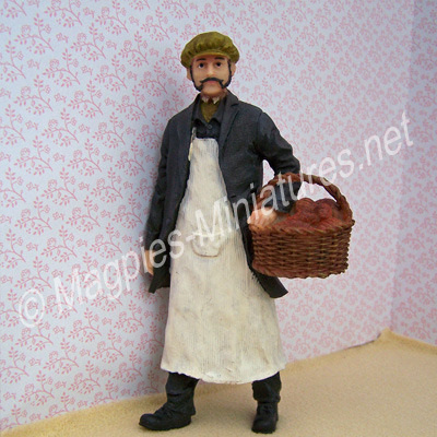 Man - Baker with Basket