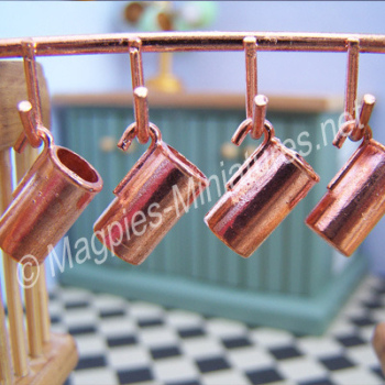 Copper Jugs and Rack