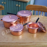 4 copper pans