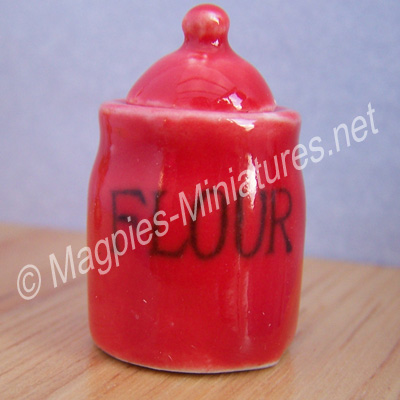 Flour Crock, Red