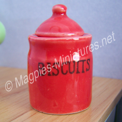 Biscuit Jar, Red