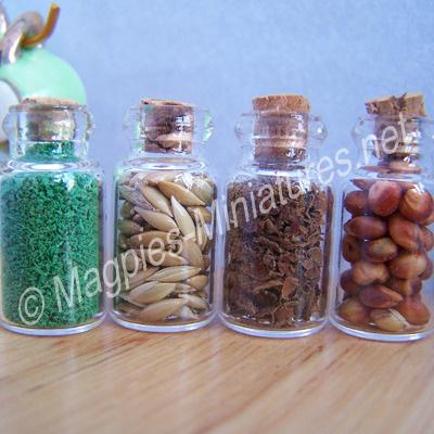 Filled Glass Jars, Set of 4