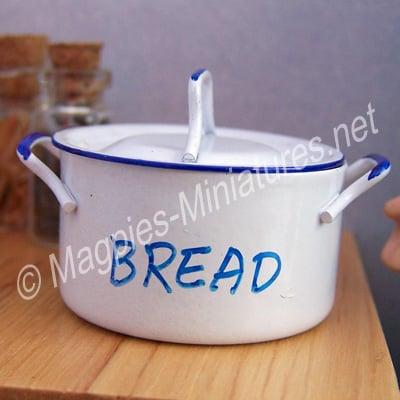 Metal Bread Bin White Enamel