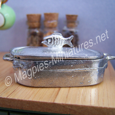White Metal Fish Kettle