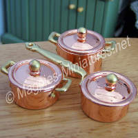 Copper Pan Set - High Quality Set
