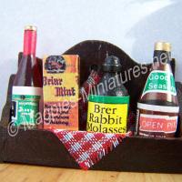 Shelf with Grocery Items