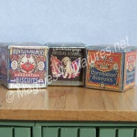 Metal Biscuit Tins, set of 3