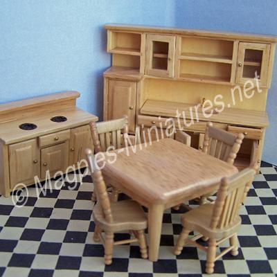 1/24TH Modern Pine Kitchen Set