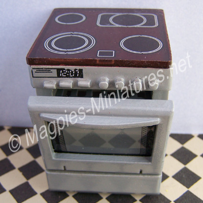 Silver Coloured Hob Cooker Unit