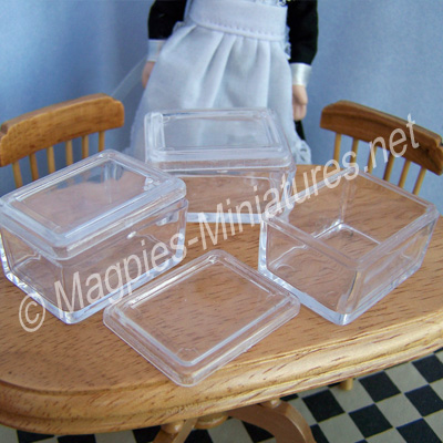 Small Plastic Storage Box Pack of 3