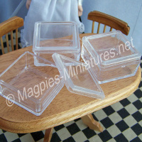 Medium Plastic Storage Box  Pack of 3