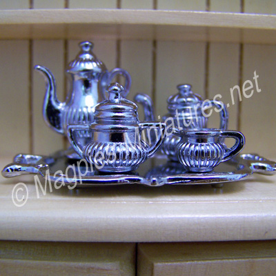 Tea Set, Silver Coloured Metal
