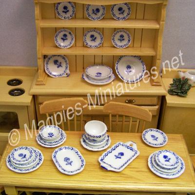 Tableware, Blue Rose