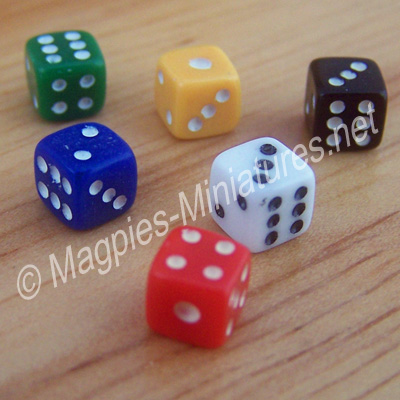 Set of 6 Coloured Dice