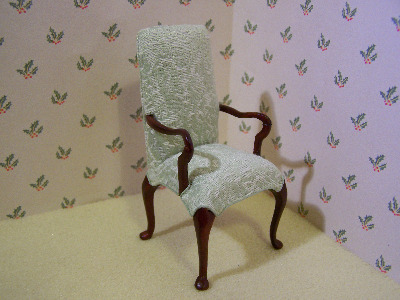 Pale Green Armed Chair