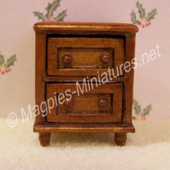 Ashley Spice - 2 Drawer Bedside Cabinet - 1:24 24th Scale