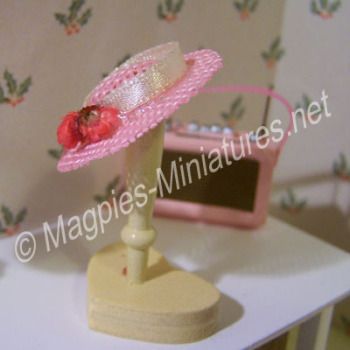 Pink Hat on Stand