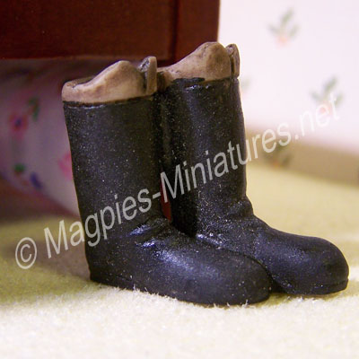 Pair of Tall Brown Boots
