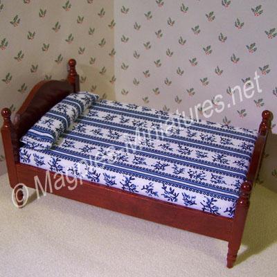Single Bed, Mahogany