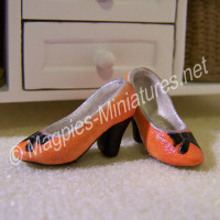 Pair of ladies shoes - light orange