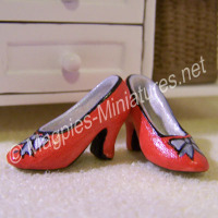 Pair of ladies shoes - dark orange