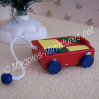Red Toy Brick Truck