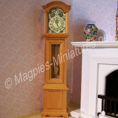 Non-working Pine Coloured Grandfather Clock