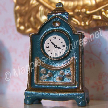 Blue Mantle Clock