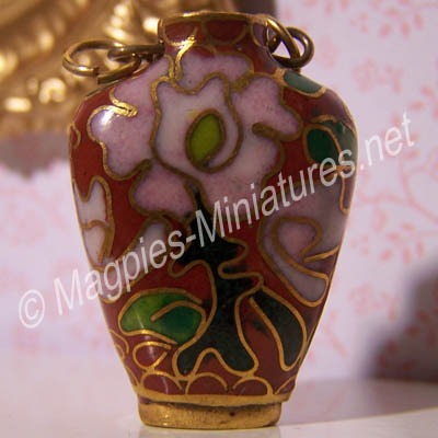 Cloisonne Vase- Red #9