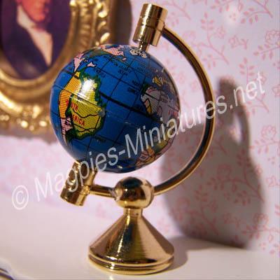Globe On Brass Stand