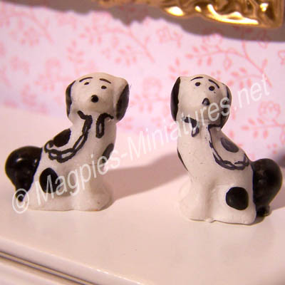 Pair of Staffordshire Dog Ornaments