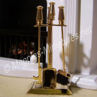 Brass Fireplace Companion Set