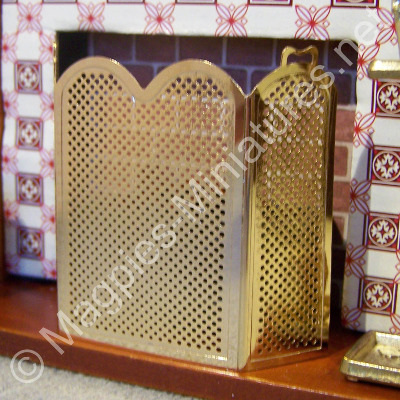 Brass Coloured Fire Screen
